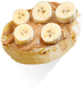 English Muffins with Peanut Butter & Banana High Fibre Recipe