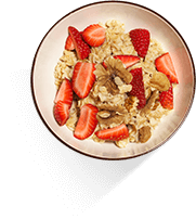 Irish Porridge with Strawberries & Vanilla High Fibre Recipe