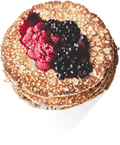 Buttermilk Buckwheat Pancakes High Fibre Recipe